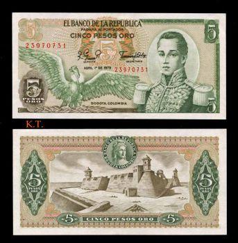 COLOMBIA 5 PESOS 1979 P-406 UNC