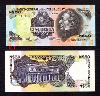 URUGUAY 50 Nuev. Pesos 1989 P-61 UNC
