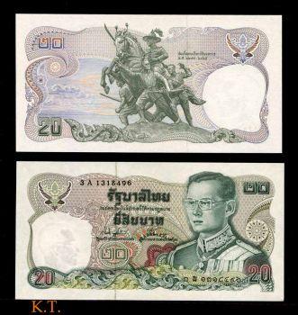 THAILAND 20 BAHT ND 1981 P-88 UNC