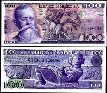 MEXICO 100 PESOS 25.3.1982 P 74 c UNC