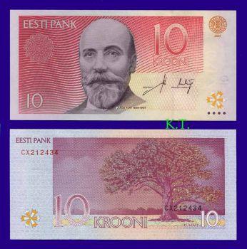 ESTONIA 10 KROONI 2007 UNC
