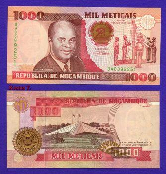 MOZAMBIQUE 1.000 METICAIS 1991 P-135 UNC