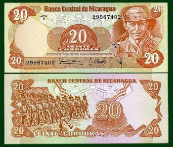 NICARAGUA 20 CORDOBAS 1979 P-135 UNC
