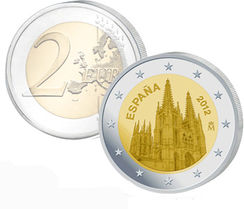 SPAIN 2 EURO 2012 Burgos Cathedral World Heritage series