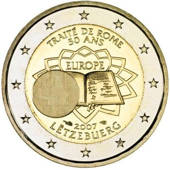 2007 LUXEMBOURG 2 EURO COMMEMORATIVE 50TH TREATY ROME