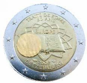 LUXEMBURG 2 EURO 2007  Treaty of Rome