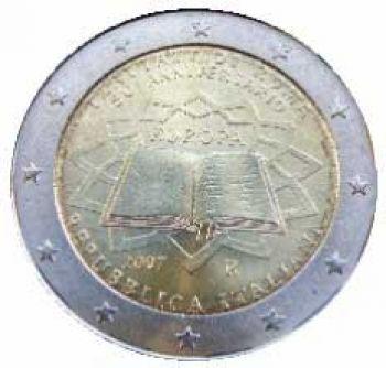 ITALY 2 EURO 2007  Treaty of Rome