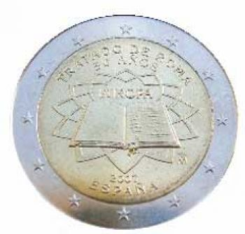SPAIN 2 EURO 2007 TOR  Treaty of Rome