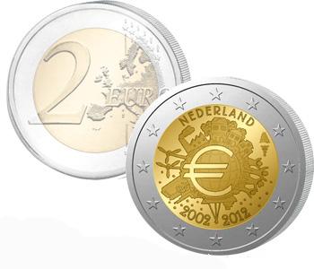 NETHERLAND  2 EURO 2012   10 Years of EURO cash  UNC