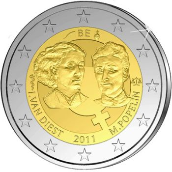 Belgium 2 euro  2011  Women's Day