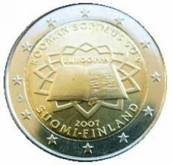FINLAND 2 EURO 2007  Treaty of Rome