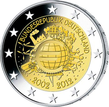 GERMANY 2012 5 X 2 EURO BAVARIA-BAYERN-NEUSCHWANSTEIN CASTLE  MINT A-D-F-G-J