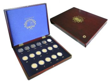 All Countries - 2 Euro Treaty of Rome, 2007 (17 coins in wooden case)