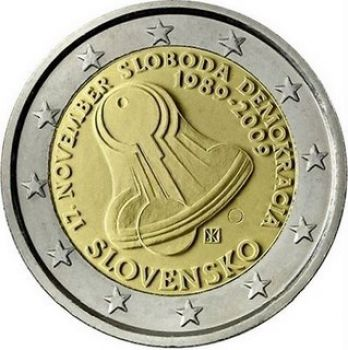 Slovakia - 2 Euro, 20th anniversary of Democracy, 2009
