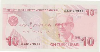 TURKEY - 10 LIRA 2009 UNC - P 223