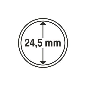 Coin Capsules inner diameter 24,5 mm