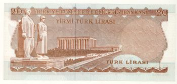 Turkey 20 Lira series (H) Unc