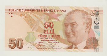 Turkey 50 lira 2009  P-225 UNC