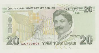 TURKEY - 20 LIRA 2009 UNC - P 224