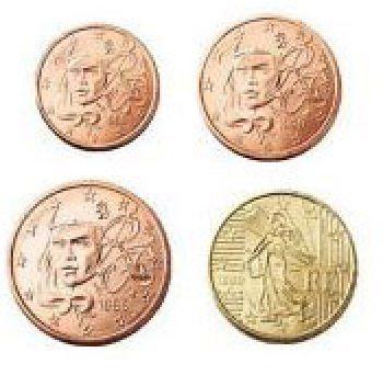 France Set of 4 coins 2005 UNC