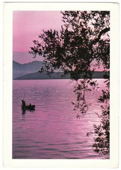 Greece Postcard & Stamp - Greece Colors