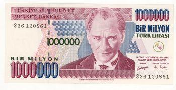 Turkey 1 Million Lira UNC