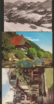 Germany: Lot of three cards, with stamp and text. Offer!