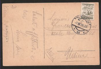 Austria: Very rare old card with stamp (clear date VIII/ 29/ 1920 !!) and text. Collectible item!