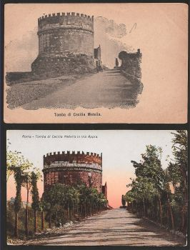 ITALY:Two different year cards:Tomba di Cecilia Metella in via Appia ROMA