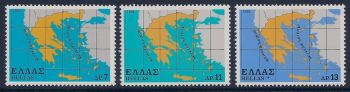 Greece 1978 - Map of Greece MNH
