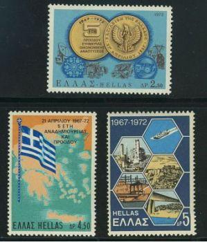 Greece- 1972 April 21st MNH