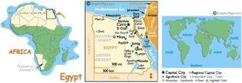 EGYPT 5 PIASTRES 1997-1998 P 185 Queen Nefertiti UNC