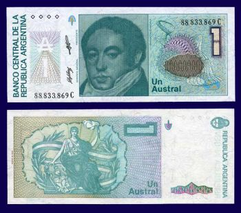 ARGENTINA 1 AUSTRAL P 323 UNC
