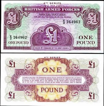 BRITISH ARMED FORCES 1 POUND 4th SERIES