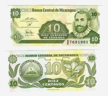 NICARAGUA 10 CENTAVOS 1991 UNC FRANCISCO HERNANDEZ
