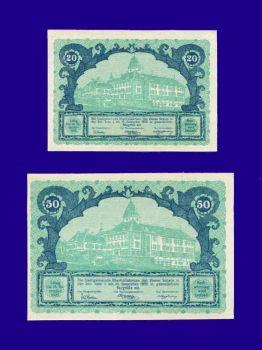 Austria set 20-50 Heller 1920 Notgeld