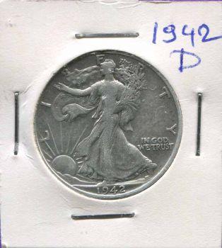 USA ασημένιο μισοδόλαρο 1942 D