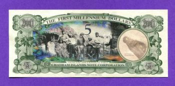 CHATHAM ISLANDS NEW ZEALAND 5 Dollars 2001 UNC