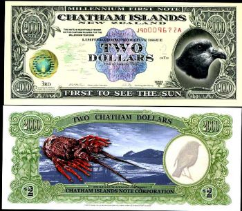 CHATHAM ISLANDS New Zealand 2 $ 1999 POLYMER UNC