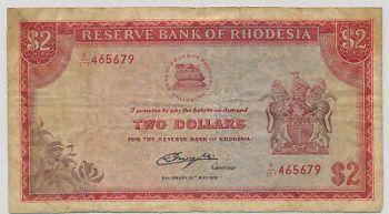 RHODESIA 5 DOLLARS 1978 Νο273024 UNC