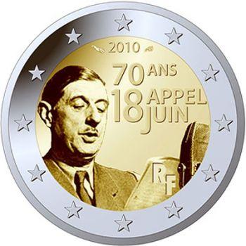 FRANCE 2010 2 EURO CHARLES DE GAULLE UNC