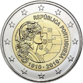 Portugal € 2 Euro 2010 COMMEMORATIVE Republic UNC