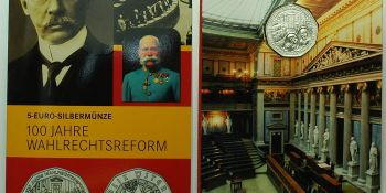 Osterreich Austria Wahlrechtsreform von 1907 5 EURO 2007 BU