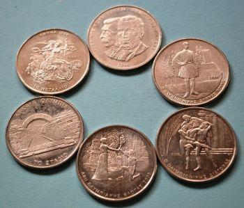 GREECE 6 X 500 DRACHMAS OLYMPIC COINS ATHENS 2000