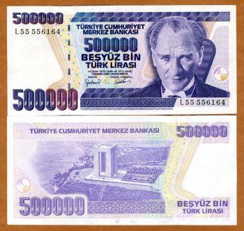 Turkey - 500000 Lirasi 1970 (1993) UNC, pick 208