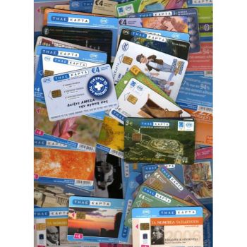 GREECE 10 TELECCARDS DIFFERENT USED