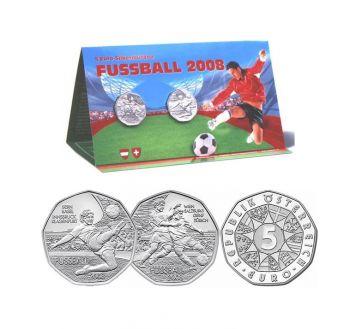 Austria 2008 5€ Football Silver BU