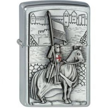 Zippo  Crusader with Horse and Flag   2010  -   Free shipping