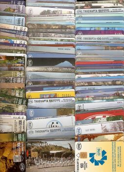 GREECE 100 TELECARDS DIFFERENT USED