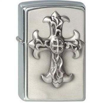 Zippo Gothic Cross Emblem  -  Free shipping
